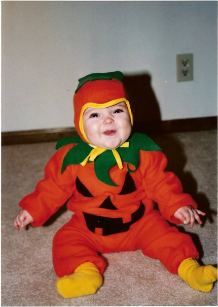 Baby Dressed Up as a Pumpkin